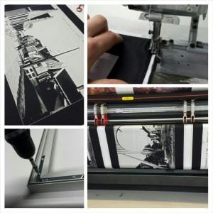 DecoTex prints in aluminium frames.